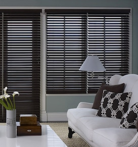 Blindsgalore Premium Wood Blinds: 2 3/8 Slats