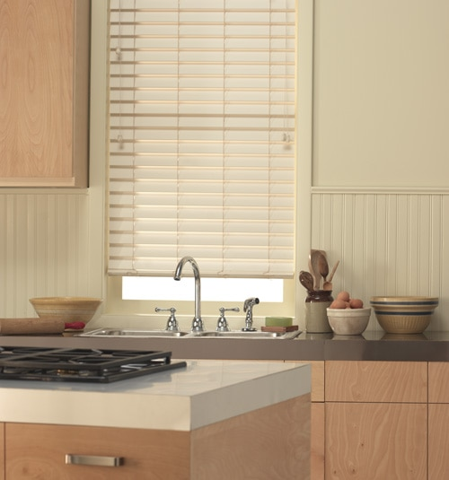 "2 1/2"" Smooth Faux Wood Blinds"