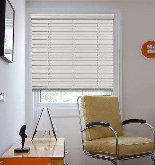 "Blindsgalore® Cordless 2"" Faux Wood Blind"