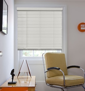 Blindsgalore Cordless 2 Faux Wood Blinds