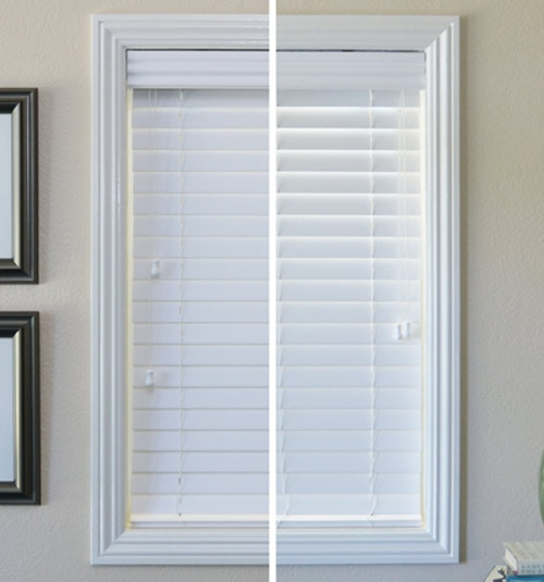 2 12 Smooth Faux Wood Blinds Blindsgalore