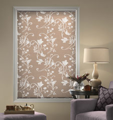 Blindsgalore® Expressions Cellular Shade: Light Filtering Spring Vine shown in Te