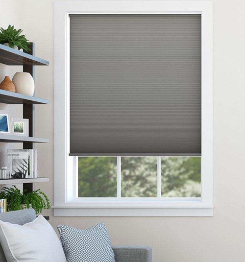 Blindsgalore® Cordless Cellular Shades shown in Golden