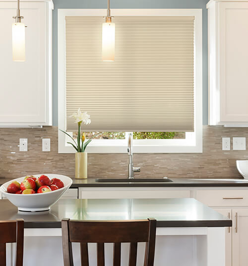 Blindsgalore® Select Motorized Cellular Shades: Light Filtering Shown in Honeygold
