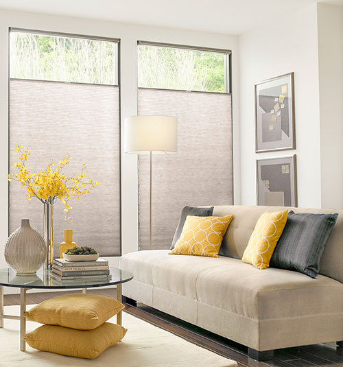 Blindsgalore® Select Cellular Shades: Light Filtering Shown in Honeygold