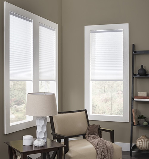 Blindsgalore® Cordless Pleated Shades shown in color Milk