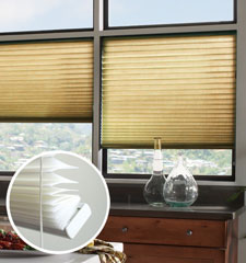 Blindsgalore No-Holes Pleated Shades: Room Darkening Solids