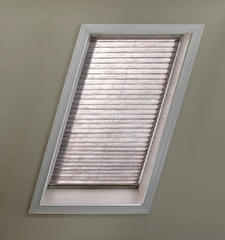 Blindsgalore No-Holes Pleated Skylight Shades: Room Darkening