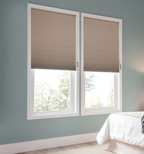 Blackout Cellular Shades shown in Desert Tan