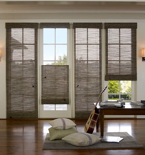 Blindsgalore® Natural Woven Shades: Shown in Lanai Bronze Luster : door shades - Pezcame.Com