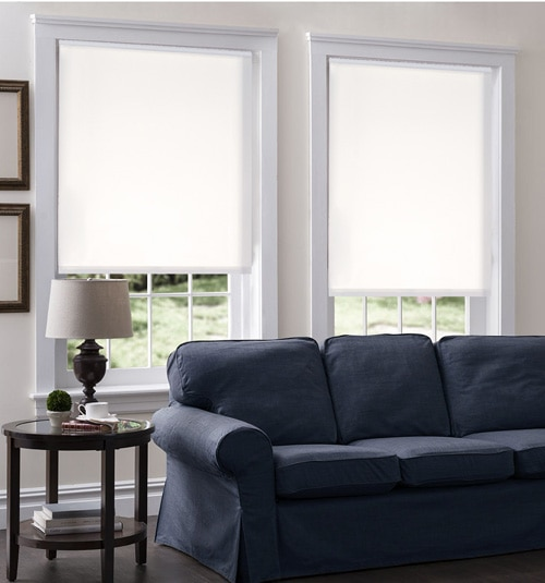 Blindsgalore® Roller Shades: Eventide shown in color White