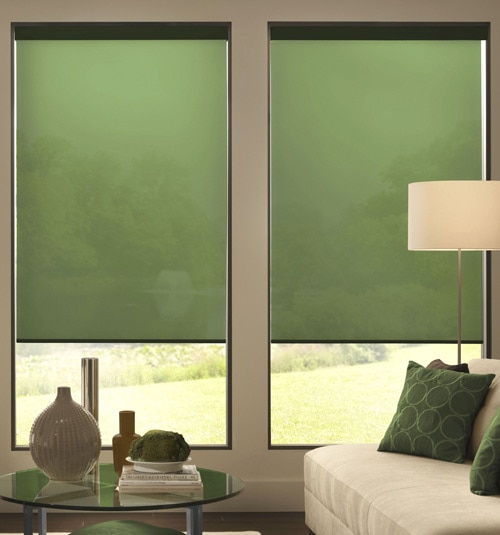 Expressions Roller Shade shown in Solids Olive