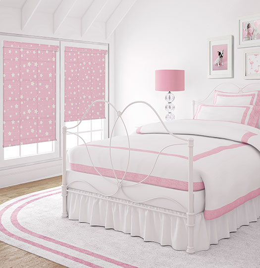 BG Kids® Roller Shade: Starbright shown in Cotton Candy