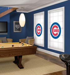 Blindsgalore MLB Custom Roller Shades: Chicago Cubs