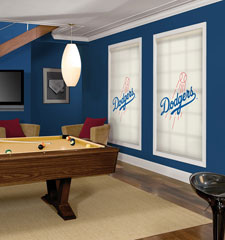 Blindsgalore MLB Custom Roller Shades: Los Angeles Dodgers