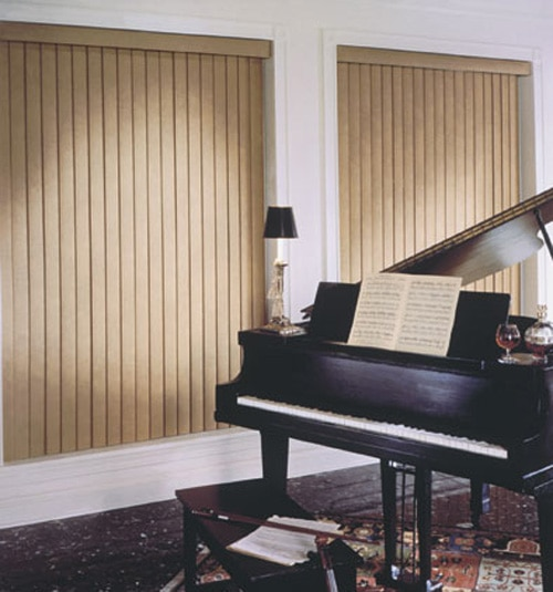 Blindsgalore Faux Wood Vertical Blinds