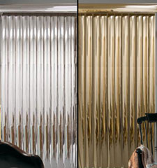 Blindsgalore Vinyl Vertical Blinds: Mirrored