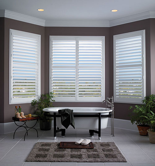 "Blindsgalore® PolyResin Plantation Shutters: 3 1/2"" Louvers"