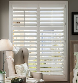 Blindsgalore PolyResin Plantation Shutters: 4 1/2 Louvers