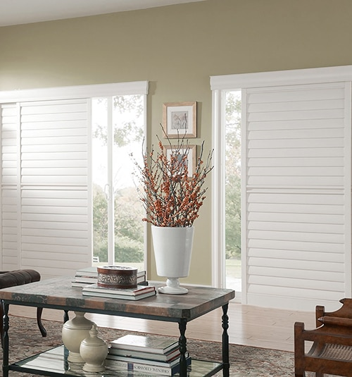 Blindsgalore PolyResin Sliding Plantation Shutters: 2 1/2 Louvers