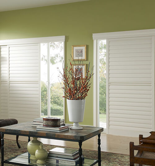 Blindsgalore® PolyResin Sliding Plantation Shutters