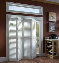 Blindsgalore Vinyl Bi-Fold Plantation Shutters: 2 1/2 Louvers
