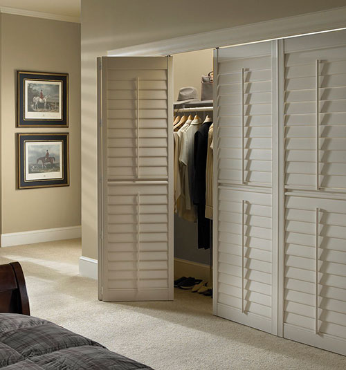 Plantation Louvered Sliding Closet Doors | Dandk Organizer