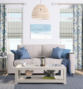 Stylish Living Room Drapes, Blinds, Shades & Window Treatments ...