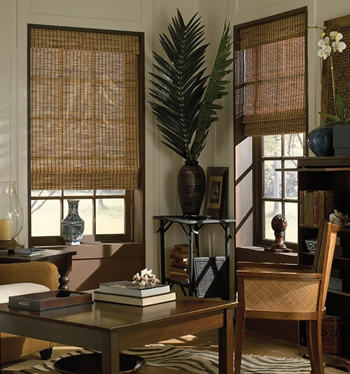 Blindsgalore® Bamboo Shade shown in Mangrove