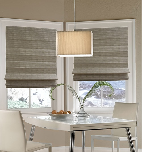 Blindsgalore® Faux Natural Woven Shades: Shown in Sand