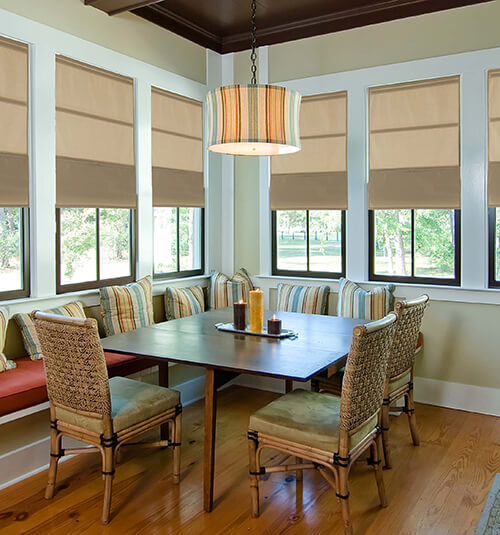 Blindsgalore® Cordless Magnetic Shades shown in color Earth