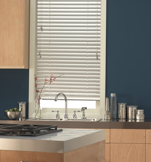 "2"" horizontal blind shown in color White Gloss"