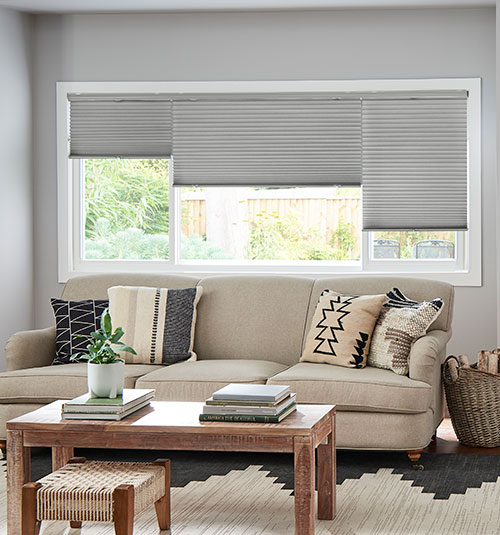 Blackout Cellular Shades shown in Moonshine