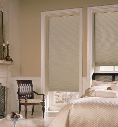 Royal Blackout Cellular Shade shown in Bisque