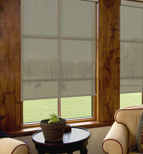 Glow Solar Shades shown in Lustrous