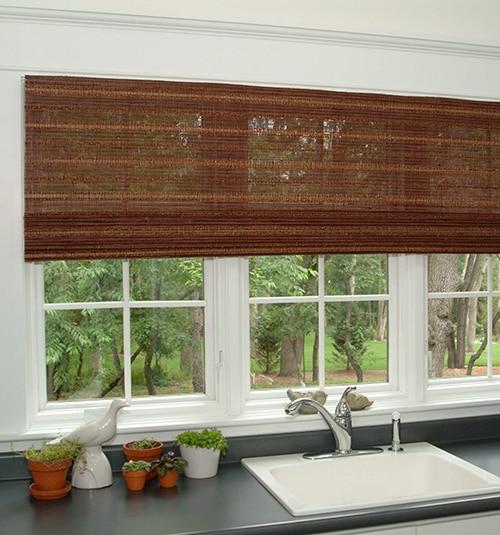 woven window shades natural fiber boutique natural waterfall woven shades select weaves wood shades blinds blindsgalore