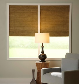 Boutique Natural Waterfall Woven Shades: Grass Weaves