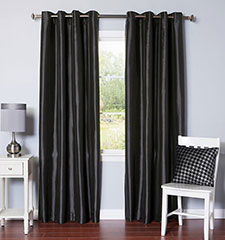 Blindsgalore Allure Drapery Pair: Faux Silk Blackout