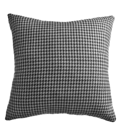Blindsgalore Signature Pillow: Classic Houndstooth Shown in Black/Grey