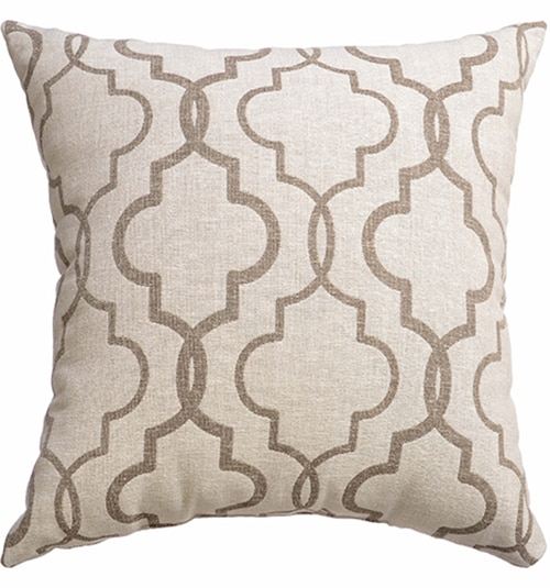 Blindsgalore Signature Pillow: Mediterranean Linen in Java