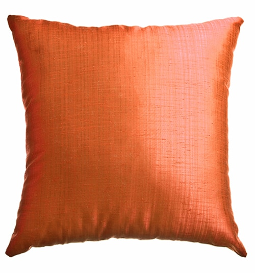 Blindsgalore Signature Pillow: Dynasty Faux Silk in Tangerine