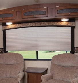 Blindsgalore Pleated RV Shades: Sheers