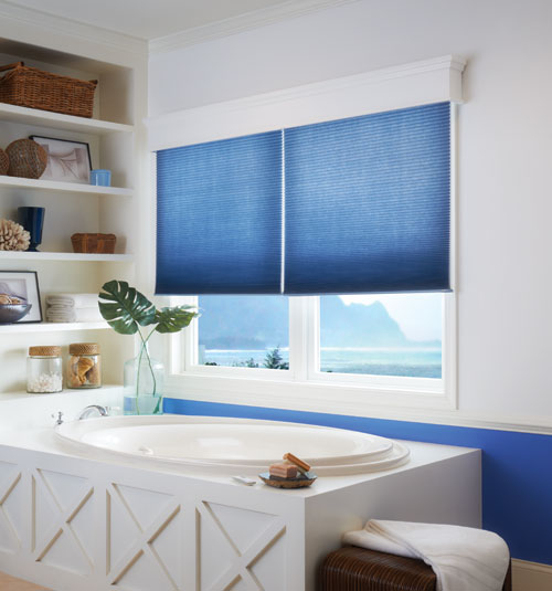 "CrystalPleat® 3/8"" Double Cell Cellular Shade: Facets shown in Southern Belle"