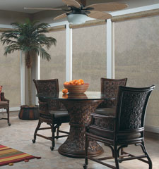 Bali® solar shade shown in color Tropics Crepe