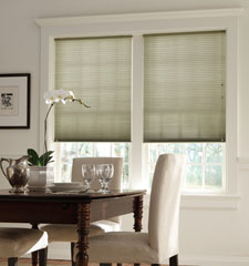 "Bali® DiamondCell® 3/8"" Single Cell Cellular Shades: Solitaire II shown in Fern color"
