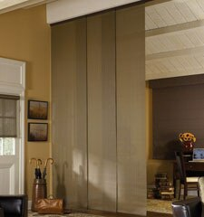 Linen Sliding Panel shown in color Walnut