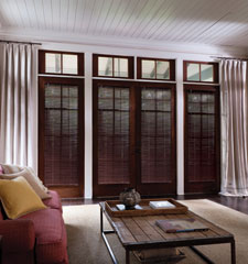 "1"" Premium Wood Blind shown in color Colonial Mahogany"