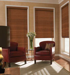 "2"" Estate Wood Blind shown in color American Walnut"