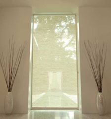 Levolor® Roller Shade: Lemongrass Stripe shown in Cream