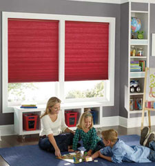 Designer Colors Light Filtering Double Cell cellular shade shown in color Sangria